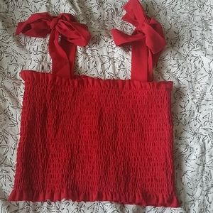 NWOT Zaful red small cropped tank top